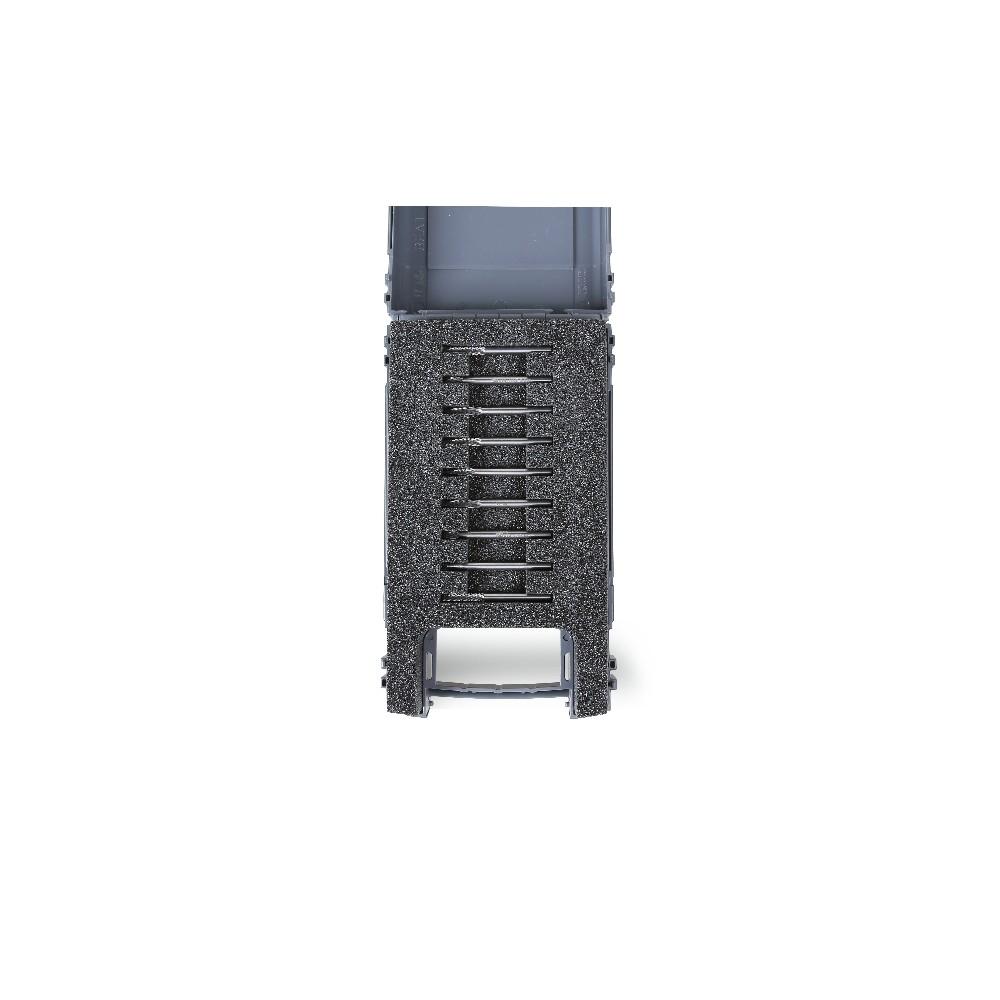 Serie di 9 mini frese rotative in metallo duro in cassetta di plastica - Beta 426MD-3/A9