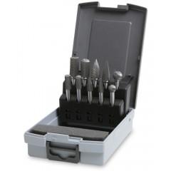 Serie di 10 lime rotative in metallo duro per acciaio e acciaio inox - Beta 426MD/SP10
