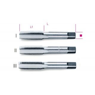 Serie di 3 maschi a mano sgrossatore, intermedio, finitore passo grosso in acciaio al cromo - Beta 430