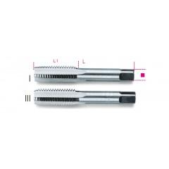 Serie di 2 maschi a mano sgrossatore e finitore passo fine in acciaio al cromo - Beta 433