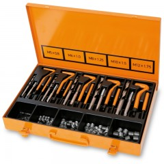 Assortment for repairing damaged threads M5-M6-M8-M10-M12 - Beta 437U/09