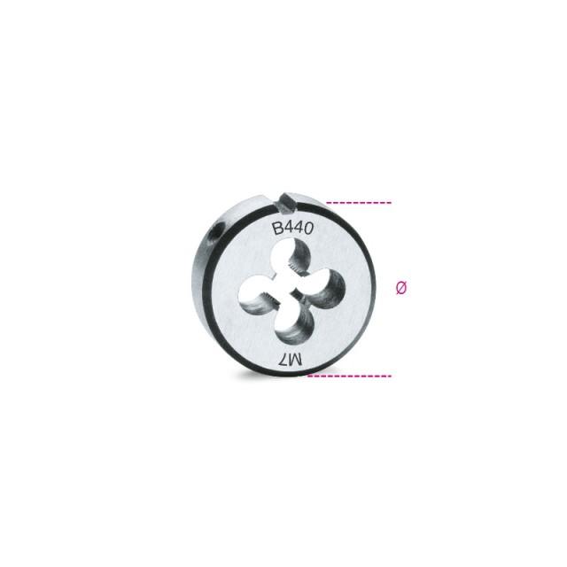 Filiere tonde, passo grosso filettatura metrica in acciaio al cromo - Beta 440
