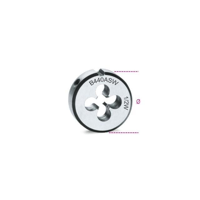 Narzynki okrągłe, gwint calowy Whitworth, stal chromowa - Beta 440ASW