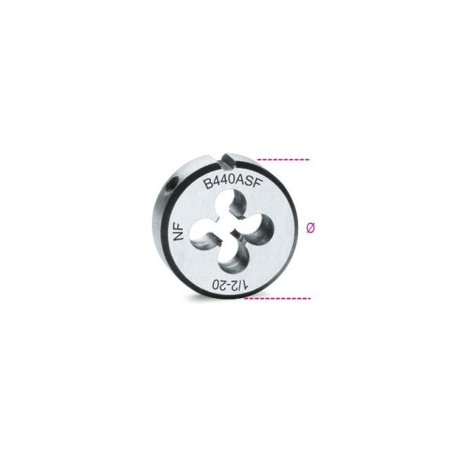 Narzynki okrągłe, gwint UNF, stal chromowa - Beta 440ASF