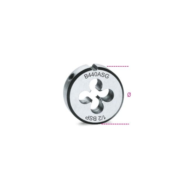 Filiere tonde, filettatura GAS cilindrica in acciaio al cromo - Beta 440ASG