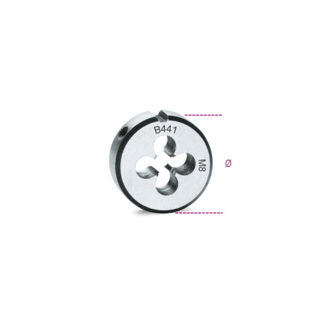 Round dies, fine pitch, metric thread made from chrome-steel - Beta 441