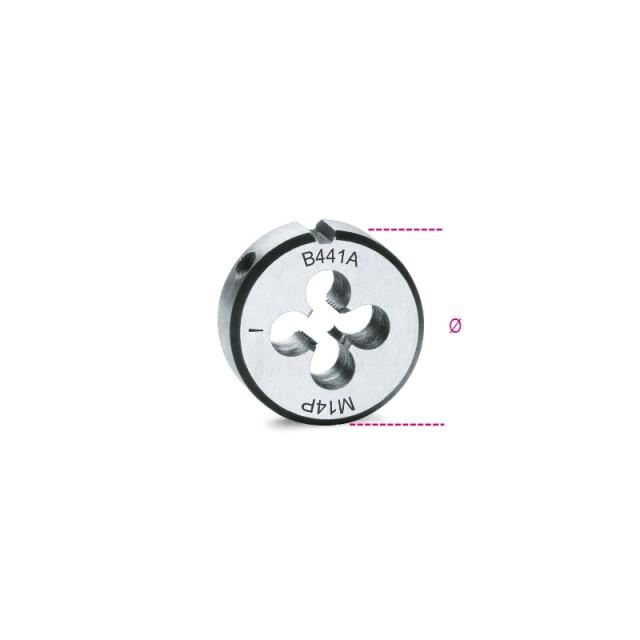 Filiere tonde filettatura metrica passo fine in acciaio al cromo - Beta 441A