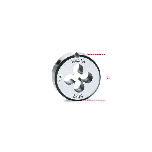 Narzynki okrągłe, gwint metryczny drobnozwojny, stal chromowa - Beta 441B