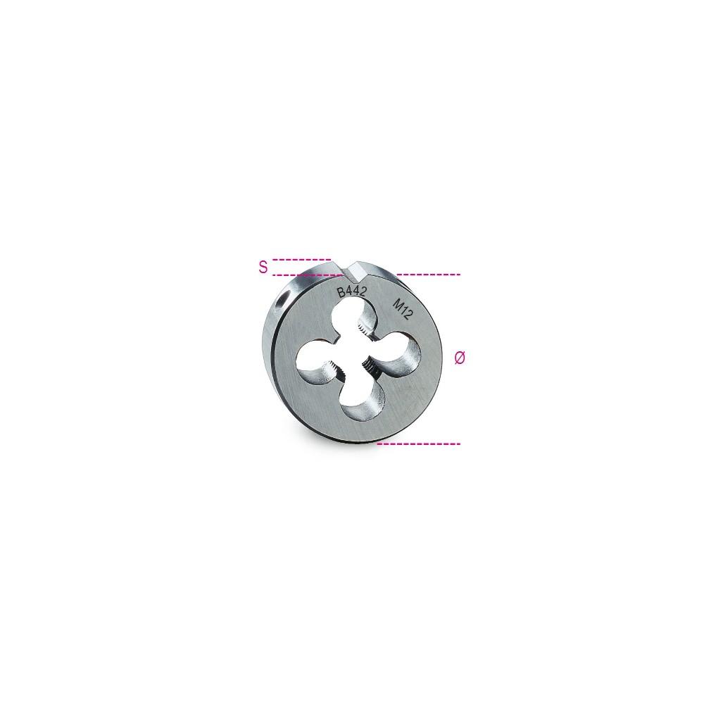 Filiere tonde filettatura metrica passo grosso in acciaio HSS - Beta 442