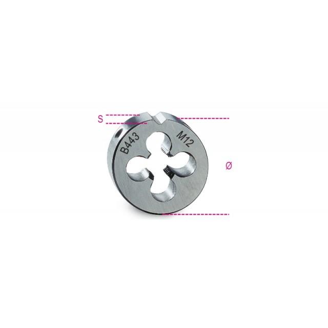 Filiere tonde filettatura metrica passo fine in acciaio HSS - Beta 443