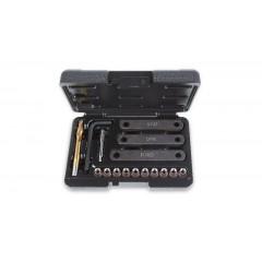 Tool assortment for repairing damaged threads on brake caliper brackets, Beta Tools 437K/16