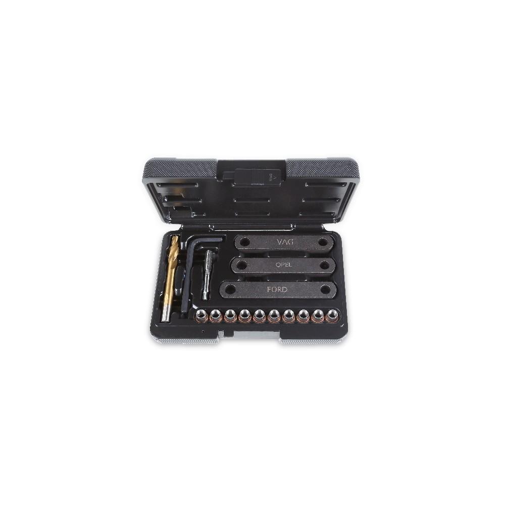 Zestaw narzędzi do naprawy uszkodzonych gwintów M9x1.25 zacisków hamulców tarczowych - Beta 437K/16