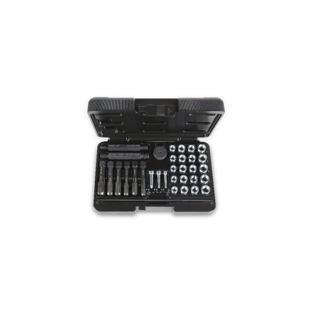 Tool assortment for repairing damaged spark plug threads - Beta 437K/33