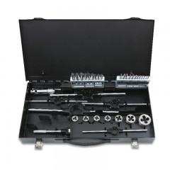 Zestaw gwintowników model 431 i narzynek model 442, HSS, z akcesoriami w pudełku metalowym - Beta 447/C37