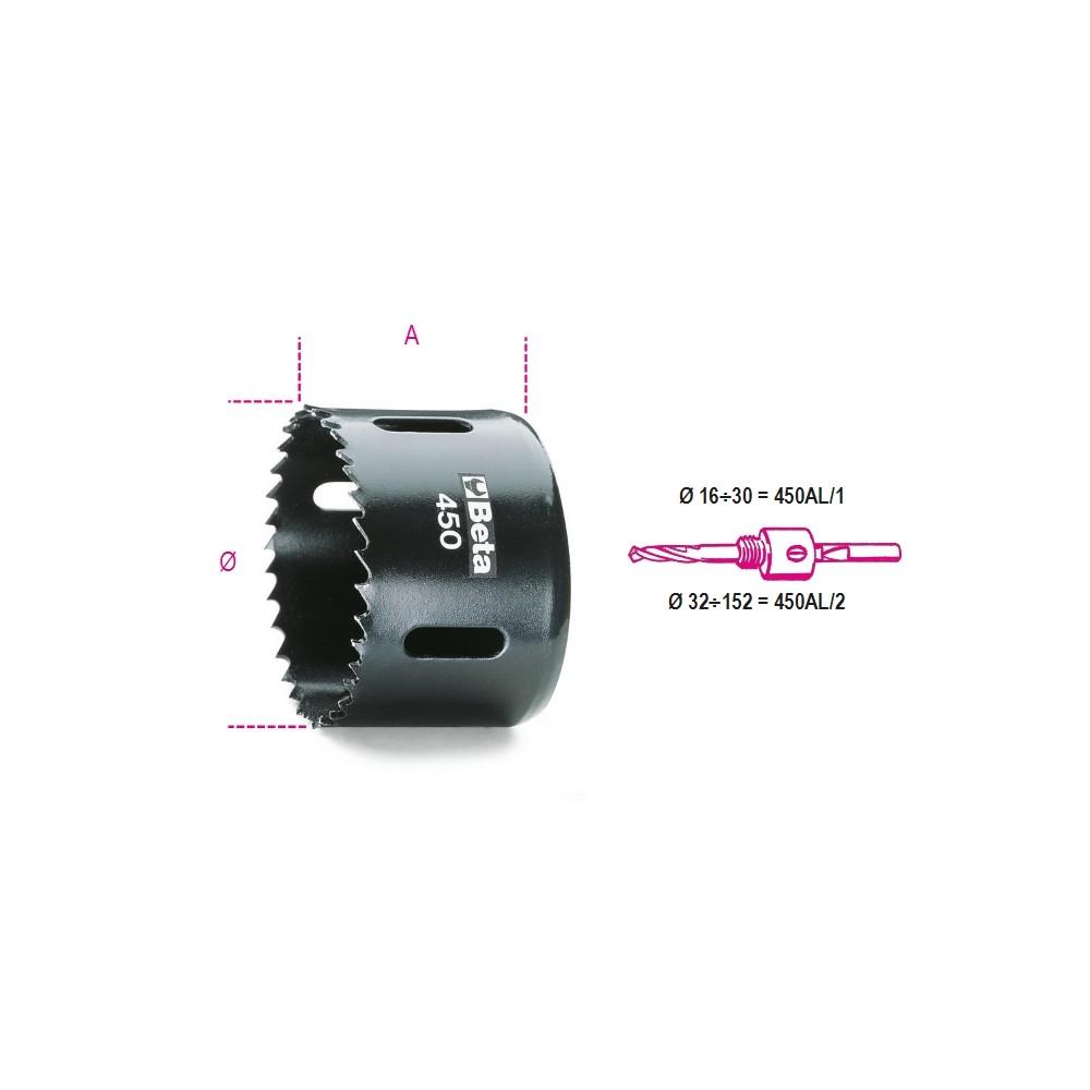 Scie trépan en acier HSS - BIMETAL - Beta 450