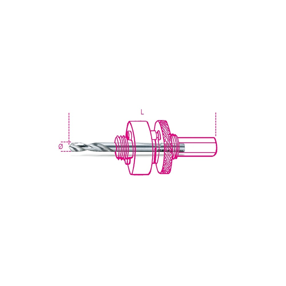 Punta per centrare in acciaio HSS per alberi 450AL/2 - Beta 450PA/2
