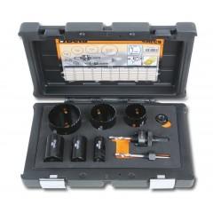 Assortimento di seghe a tazza con accessori per installatori in cassetta di plastica antiurto - Beta 450/C9