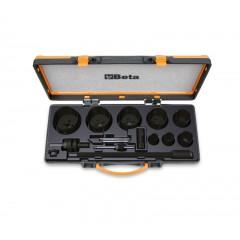 Composition de scies trépans et accessoires pour électriciens en coffret métallique - Beta 450/C15
