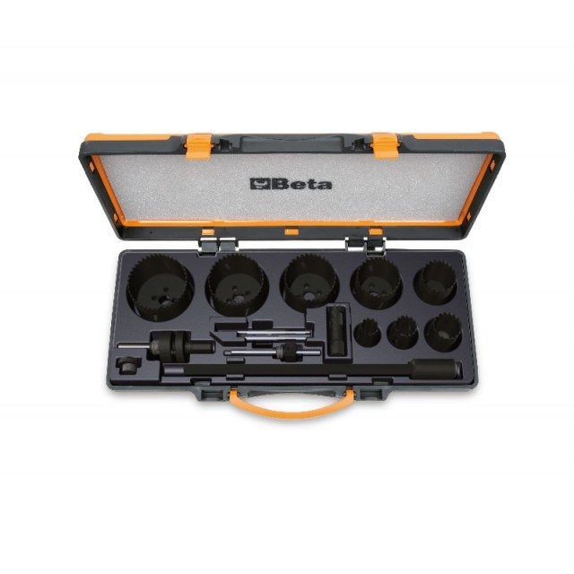 Assortment of holesaws and accessories for electricians, in metal case - Beta 450/C15