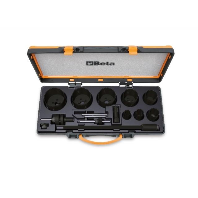 Zestaw pił otworowych dla elektryków, w pudełku metalowym - Beta 450/C15