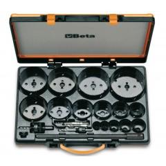 Assortimento di seghe a tazza con accessori per uso industriale in cassetta metallica - Beta 450/C21