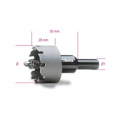 452 15-HOLE CUTTERS HARD METAL INSETS