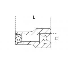 Estrattori per dadi destrorsi danneggiati con attacco quadro - Beta 1428
