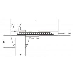 Tolómérő acélból, tokban, pontosság 0.05 mm - Beta 1650