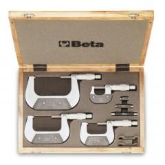 Assortimento di 4 micrometri 1658 in astuccio di legno - Beta 1658/C4