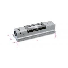 Livella lineare di precisione in ghisa con base prismatica rettificata a 2 fiale infrangibili in astuccio di legno - Beta 1699L