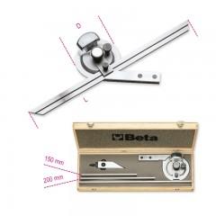 Rapportatore d'angoli in acciaio inossidabile in astuccio di legno - Beta 1678/C3