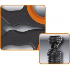 Forbici per elettricisti a doppio effetto, con profili a fresa in acciaio inossidabile rivestito in DLC - Beta 1128BAX
