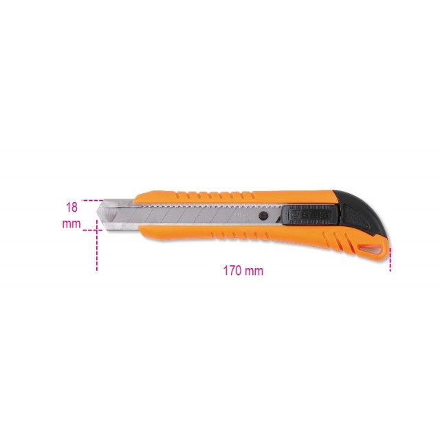 Cutter 18 mm fornito con 3 lame di ricambio - Beta 1771