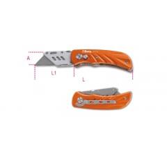 Cutter a serramanico con lama trapezoidale impugnatura in alluminio fornito con 5 lame - Beta 1777T