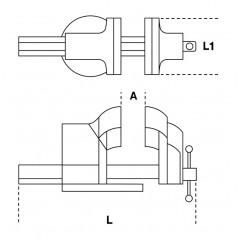 Morse parallele da banco forgiate - Beta 1599P