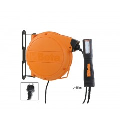 Automatischer Kabelaufroller mit LED-Arbeitslampe,  230 Vac - Beta 1846LED/BM