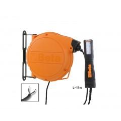 Avvolgitore automatico completo di lampada a LED alimentazione 12-24V AC/DC - Beta 1846LED/ABM