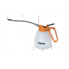 Plastic pressure oil cans flexible spouts - Beta 1753