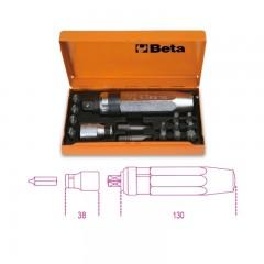 Slagschroevendraaier met 14 bit en houder in kist - Beta 1295/C14