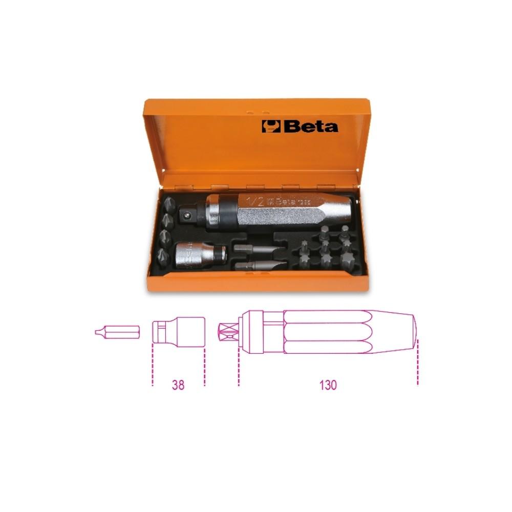 Giravite a percussione con 14 inserti e bussola portainserti - Beta 1295/C14