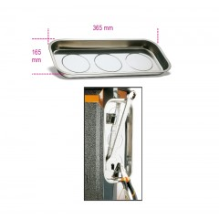 Műanyagtálca kis tárgyak elhelyezésére, mágneses, téglalapalakú - Beta 1767PMR