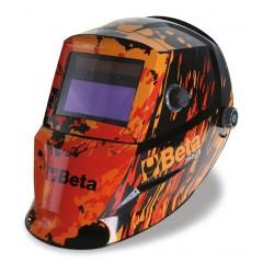 Maschera LCD ad oscuramento automatico, per saldatura ad elettrodo MIG/MAG TIG e plasma. Alimentazione a ce... - Beta 7042LCD