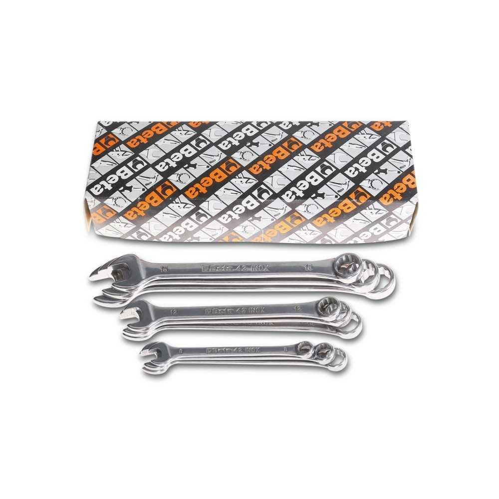 Serie di chiavi combinate inossidabili - BetaINOX 42INOX-AS/S9