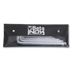 Serie di 6 chiavi maschio esagonali piegate in acciaio inossidabile, in busta - BetaINOX 96BPINOX/B