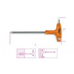Ключ Г-образный шестигранный с рукояткой изготовлен из нержавеющей стали - Beta 96TINOX-AS
