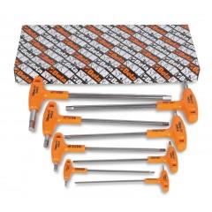 Serie di 8 chiavi maschio esagonale piegate con impugnatura di manovra in acciaio inossidabile - BetaINOX 96TINOX/S8