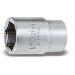 """Hexagon hand sockets, 1/2"""" female drive, made of stainless steel - Beta 920INOX-A"""