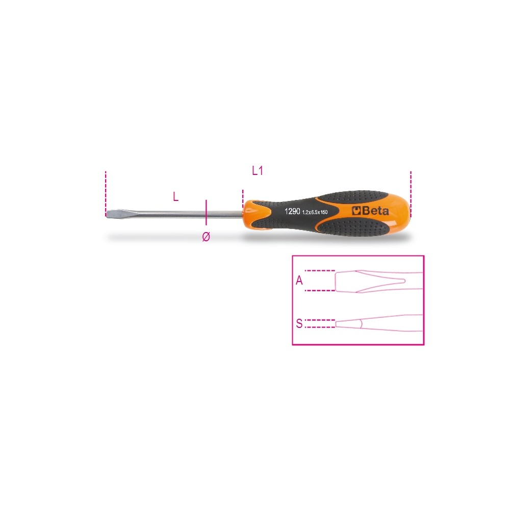 Giravite per viti a testa con intaglio in acciaio inossidabile - BetaINOX 1290INOX