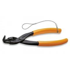 Pinze a becchi piegati a 90° per anelli elastici di sicurezza, per fori manici