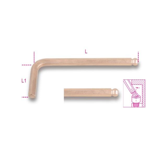 Ключ Г-образный торцевой со сферической головкой, искробезопасное исполнение - Beta 96BA/BP